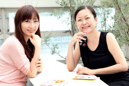 (左)はあちゅう、(右)林永子