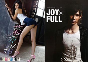 左:『菜々緒 2015カレンダー』TRY-X Corporation/右:『JOYパーソナルブック JOY×FULL』学習研究社