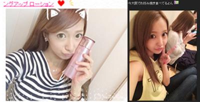 左:辻希美オフィシャルブログより/右:板野友美オフィシャルブログより