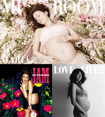 上:スザンヌオフィシャルブログより/左下:『JAM』ファー・イースタン・トライブ・レコーズ/右下:『LOVE LIFE 2』エイベックス・エンタテインメント