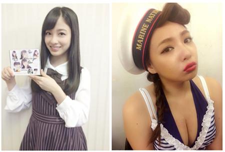 左:橋本環奈オフィシャルブログより/右:野呂佳代オフィシャルブログより