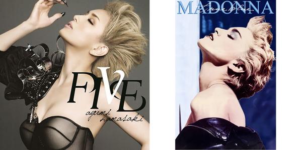 左・浜崎あゆみ『FIVE』/右・Madonna『True Blue』