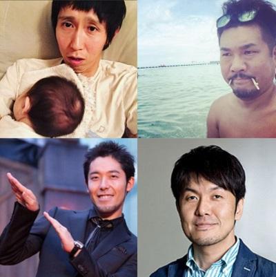 イクメン芸能人の各々(公式instagram,twitter,HPより)