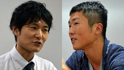 清水陽平さん(左)と角間惇一郎さん(右)