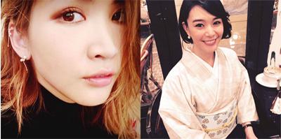 左:紗栄子Instagramより/右:知花くららInstagramより