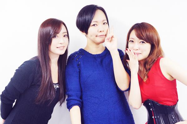 左から芙羽忍さん、kirinさん、谷川。