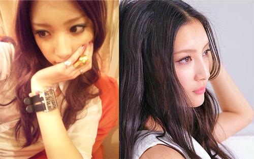 左:菜々緒オフィシャルブログより(2010年11月28日)/:菜々緒Instagramより(2016年5月2日)