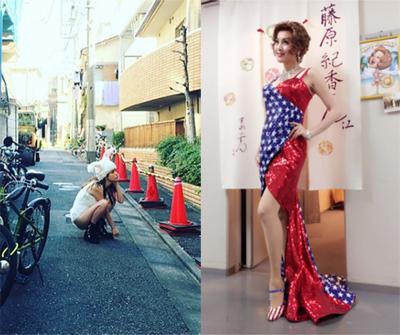 左:梨花Instagramより/右:藤原紀香オフィシャルブログより