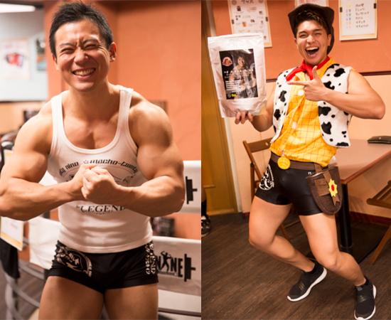 新たにメンバーに加入したマッチョメンバー発見。 左:田中綾さん(1989年9月12日生まれ/チャーム筋肉:表情筋)  右:高瀬レストレポ雅弘さん(1993年10月19日生まれ/チャーム筋肉:大胸筋)