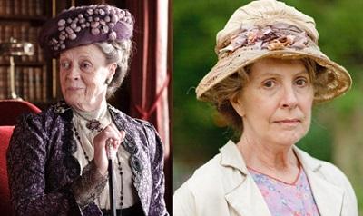 左:マギー・スミス、右:ペネロープ・ウィルトン『ダウントン・アビー』公式サイトより