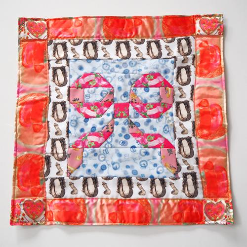 増田ぴろよのアート作品その2/男性器テキスタイルを切り刻んだキルト作品「消滅のキルト」シリーズより