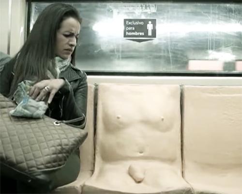 日本でも実施してほしい! 恐怖・不快・感触…ペニス付きの座席が伝えた強いメッセージの画像1