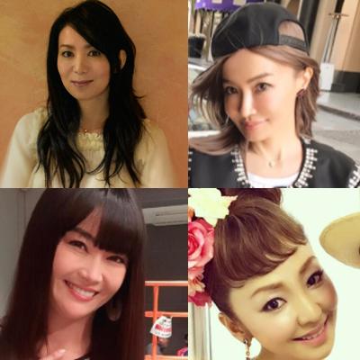 左上:NHK『SONGS』HP 右上:平子りさInstagram 左下:観月ありさInstagram 右下:神田うのオフィシャルサイト