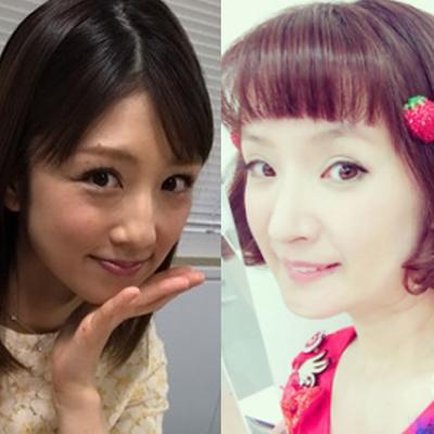 左:小倉優子オフィシャルサイトより 右:千秋Instagramより