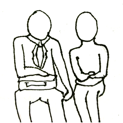【完成】警戒! 座席シートで腕組みスタイルや肘を使って、犯行に及ぶ痴漢の形態の画像3