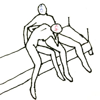この体位でウエスト絞れればいいんだけども