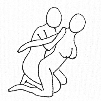 男性は腰に手を回せば、密着度アップ!