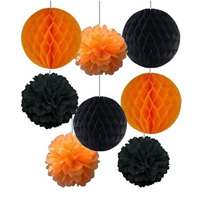 「SUNBEAUTY 「8個セット」黒+オレンジ ハロウィン装飾」出典:amazon