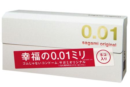 「<相模ゴム工業>サガミオリジナル 0.01 5個入」 出典:amazon
