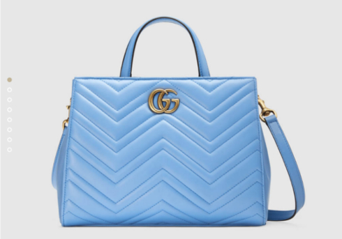 〔GGマーモント〕 キルティング トップハンドルバッグ - グッチ トップハンドルバッグ グッチ公式サイトより https://www.gucci.com/jp/ja/pr/women/womens-handbags/womens-top-handles/gg-marmont-matelass-top-handle-bag-p-448054DTD1T4338