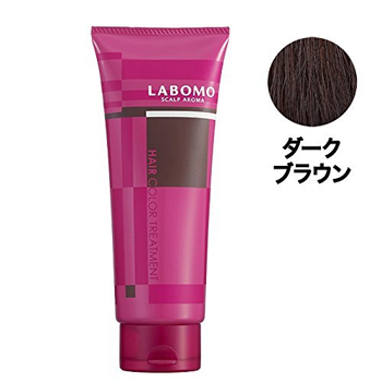 「LABOMO(ラボモ) スカルプアロマ ヘアカラートリートメント (ダークブラウン)」 出典:amazon
