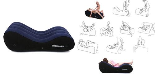 「インフレータブルパッド エアクッション エアソファ アダルトグッズ 特許取得済み製品(馬の背型)」 出典:amazon