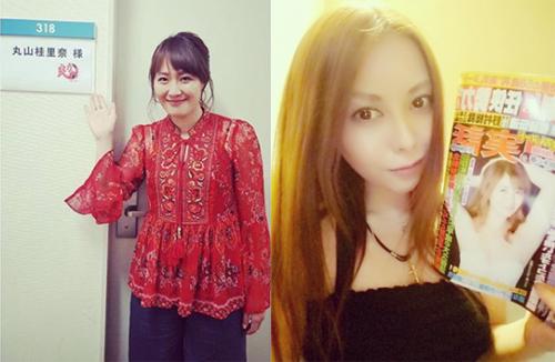 左:丸山桂里奈Instagramより/右:濱松恵オフィシャルブログより