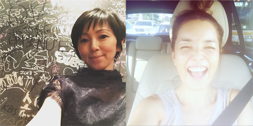 左:渡辺満里奈Instagramより/右:梨花Instagramより